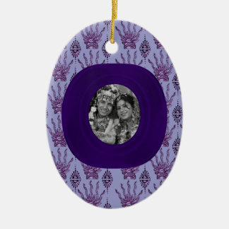 Henna Hand (Purple) (Wedding) Ceramic Ornament