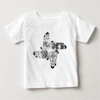 Henna Hands 4 Square Paisley Tattoo Vintage T Shirt