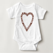 Henna Heart Design Baby Bodysuit