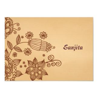 Henna Inspiration Personalized Stationery Notecard