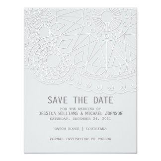 Henna Inspired Save the Date Card