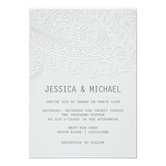 Henna Inspired Wedding Card