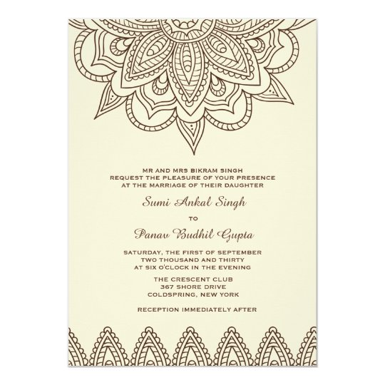 Mehndi Party Invitation Wording : Henna invitation zazzle