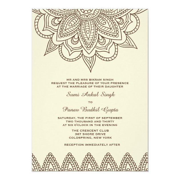 Henna Invitation | Zazzle.com