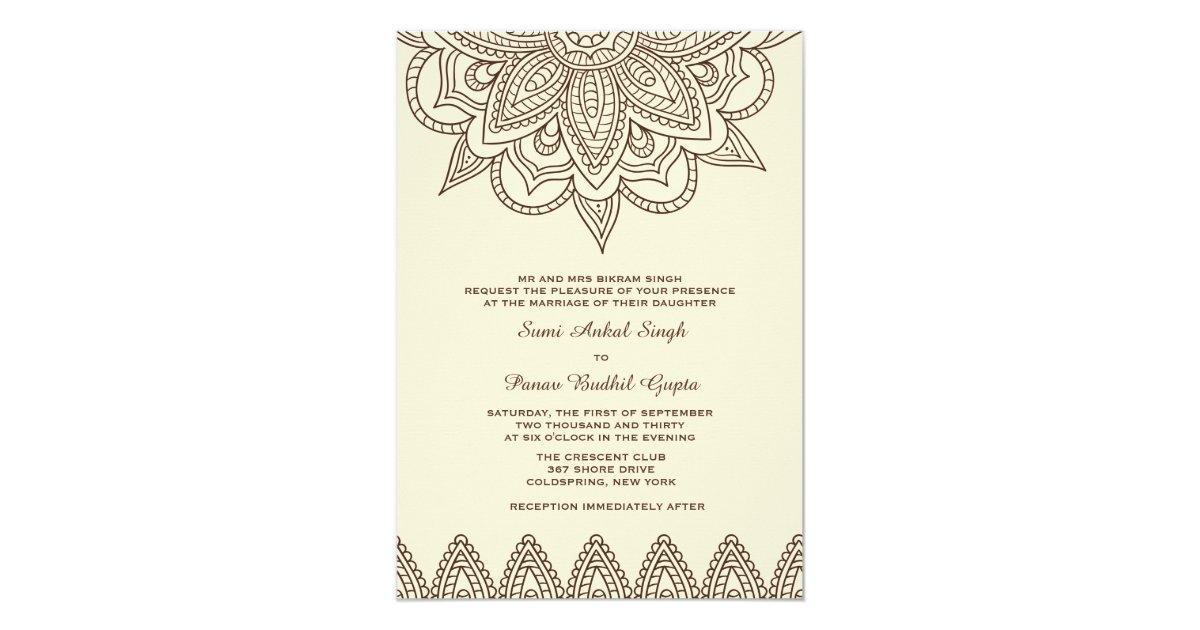 Mehndi Event Invitation : Henna invitation zazzle