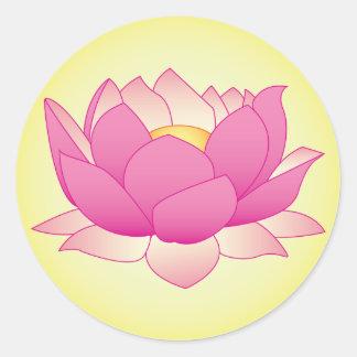 Henna Lotus Classic Round Sticker