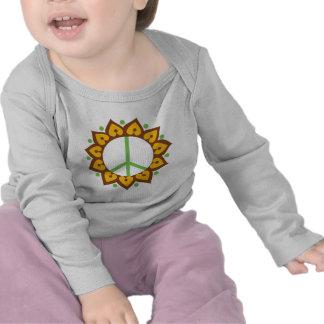 Henna Lotus Flower Peace Sign Tshirts