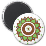 Henna Lotus Mandala 2 Inch Round Magnet