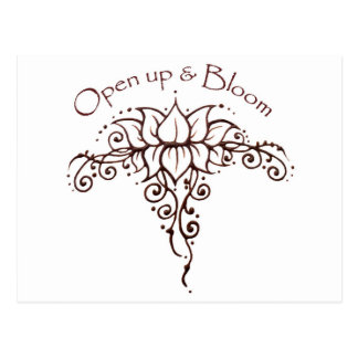 Henna Lotus 'Open Up & Bloom' Postcard