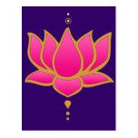 Henna Lotus Pink Postcard