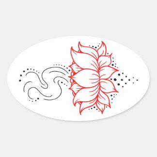 Henna Lotus Sticker