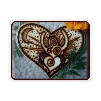 Henna Magnet: Original Henna on Wood By Cyn Mc