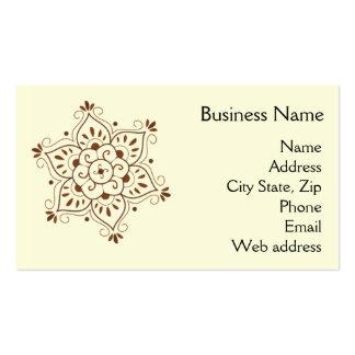 Henna Mandala Business Card