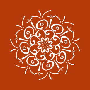 Henna Design Wrapping Paper Zazzle