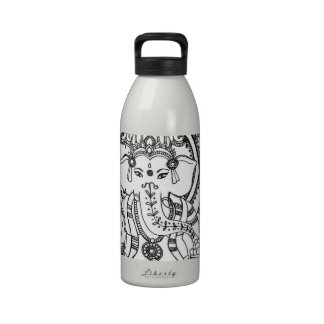 Henna mehndi elephant Liberty Bottle Water Bottle