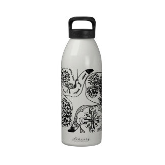 Henna Mehndi Hands Indian Designs Painted Wedding Water Bottle