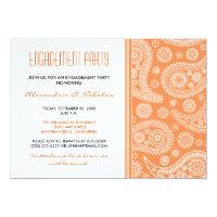 Henna Paisley Engagement Party Invitation (orange)