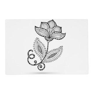 Henna Paisley Mehndi Doodles Placemat