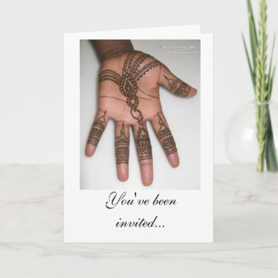 Elegant Mehndi Wedding Invitation Zazzle Com