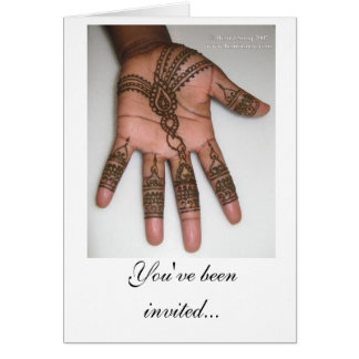 Henna Party Invitation