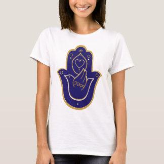 Henna Peace & Love Hamsa Blue T-Shirt