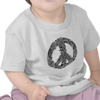 Henna Peace Sign Tee Shirts
