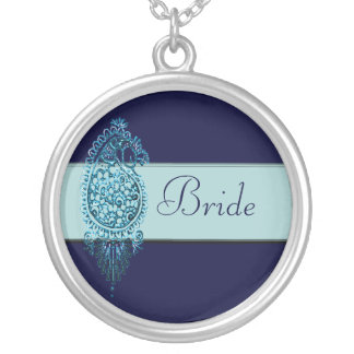Henna Peacock (Blue) (Wedding) Pendant