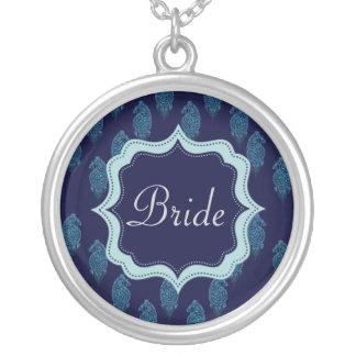Henna Peacock (Blue) (Wedding) Custom Necklace