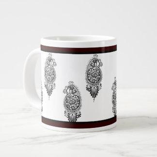 Henna Peacock Large Coffee Mug