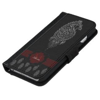 Henna Peacock (Silver) iPhone 6/6s Wallet Case