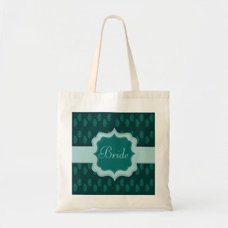 Henna Peacock (Turquoise) (Wedding) Canvas Bags