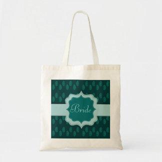 Henna Peacock (Turquoise) (Wedding) Tote Bag