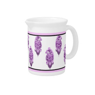 Henna Peacock (Violet) Drink Pitcher