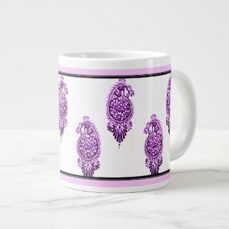 Henna Peacock (Violet) Giant Coffee Mug