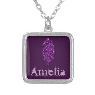 Henna Peacock (Violet) Necklaces