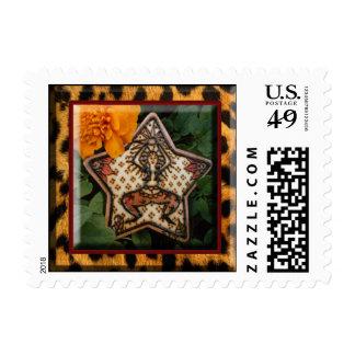 Henna Star Dancer: Original Art By Cyn Mc Postage Stamp