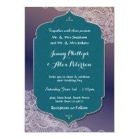 Henna Style Jewel Wedding Party Arabian Nights Invitation