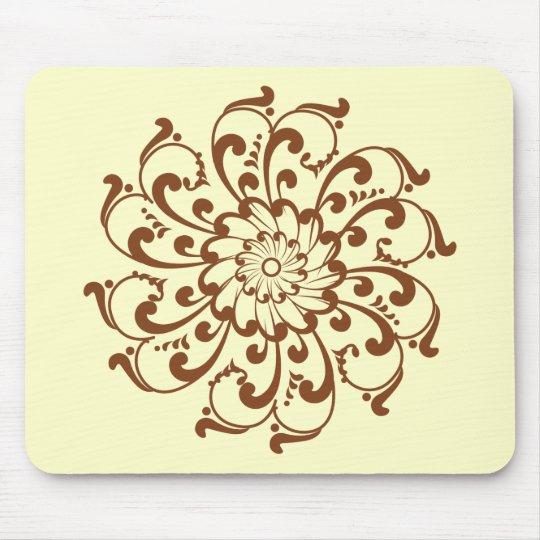 Henna Swirl Mandala Mouse Pad