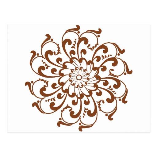Henna Swirl Mandala Postcards