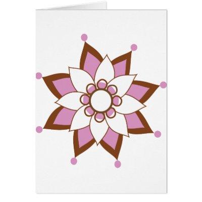 Henna Tattoo Flower Card by
