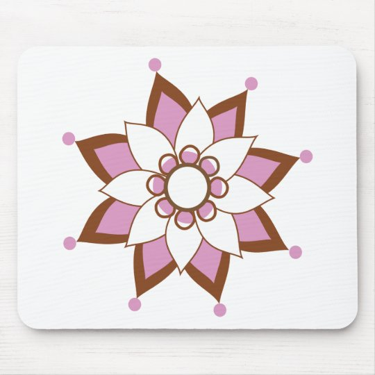 Henna Tattoo Flower Mouse Pad