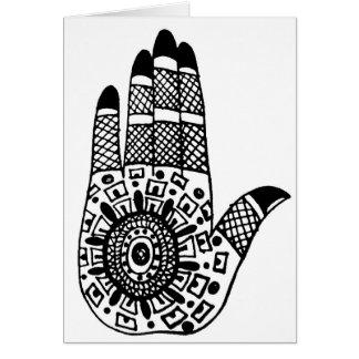 Henna Tattoo Hands Card