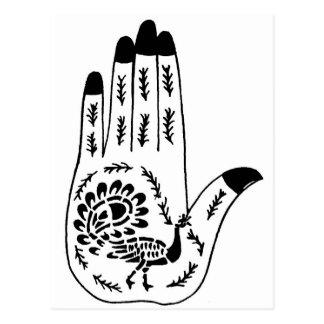 Henna Tattoo Hands Post Card