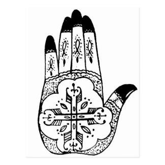 Henna Tattoo Hands Postcard