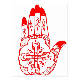 Henna Tattoo Hands Postcard