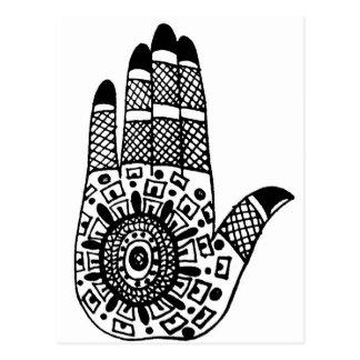Henna Tattoo Hands Postcards