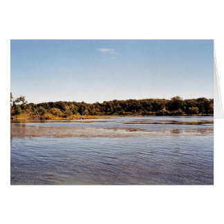 Hennepin Marsh South Coastline at Detroit River In Greeting Card