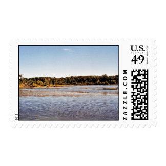 Hennepin Marsh South Coastline at Detroit River In Postage