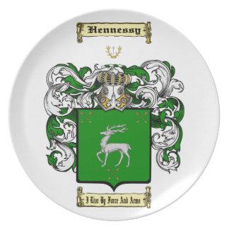 Hennessy Melamine Plate