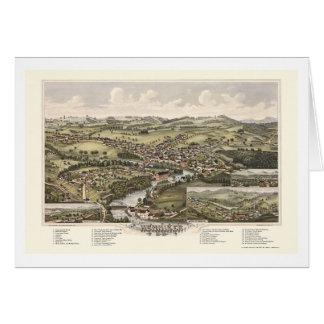 Henniker, mapa panorámico del NH - 1889 Tarjeta De Felicitación